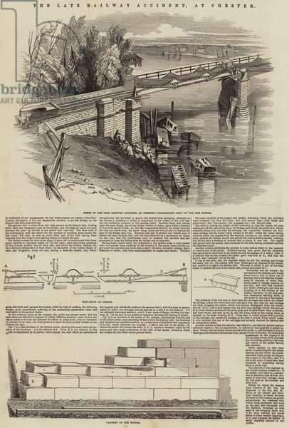 The Late Railway Accident, at Chester (engraving)