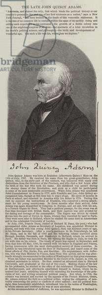 The late John Quincy Adams (engraving)