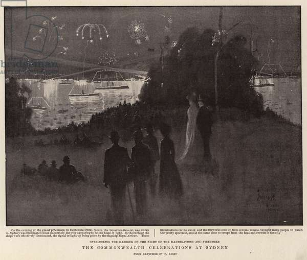 The Commonwealth Celebrations at Sydney (litho)