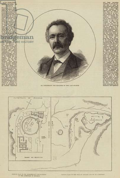 Schliemann's Researches in Greece (engraving)