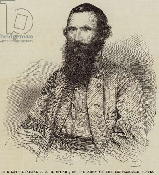 The Late General J E B Stuart, of the Army of the Confederate States (engraving)