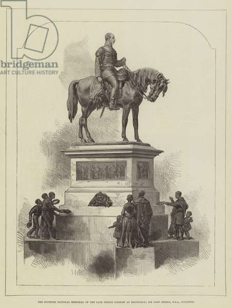 The Scottish National Memorial of the late Prince Consort at Edinburgh; Sir John Steell, RSA, Sculptor (engraving)