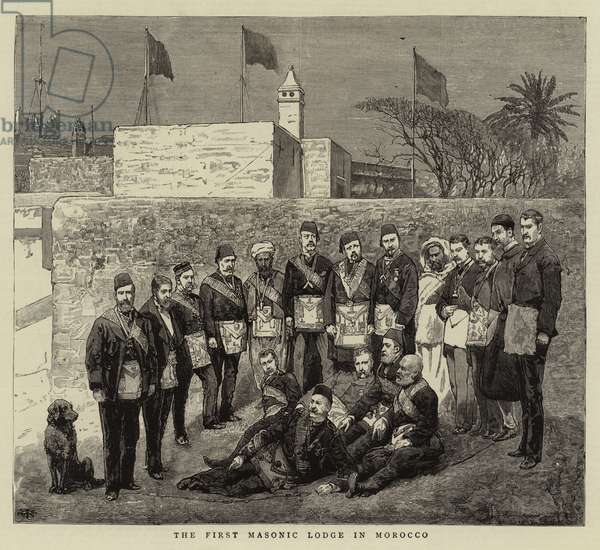 The First Masonic Lodge in Morocco (engraving)