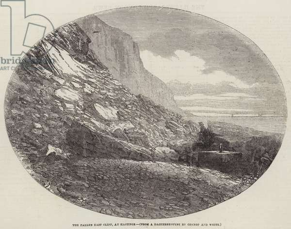 The Fallen East Cliff, at Hastings (engraving)