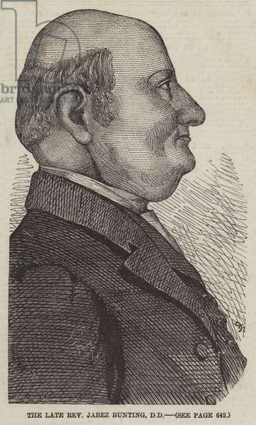 The late Reverend Jabez Bunting, DD (engraving)