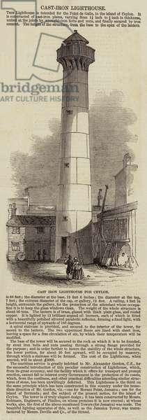Cast Iron Lighthouse for Ceylon (engraving)
