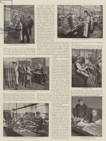 Rifle Making for the British Army (b/w photo)