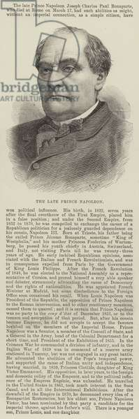 The late Prince Napoleon (engraving)