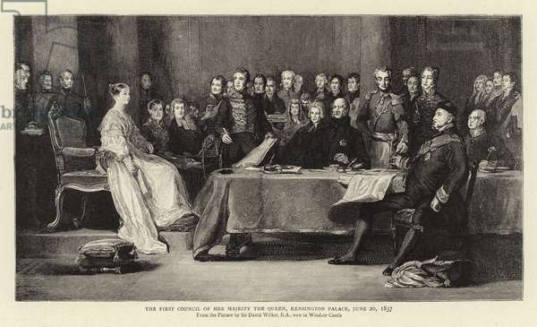 The First Council of Her Majesty the Queen, Kensington Palace, 20 June 1837 (engraving)