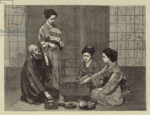 A Chinese Chess Party (engraving)