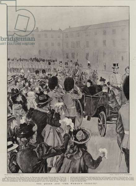 """The Queen and """"The Women's Tribute"""" (litho)"""