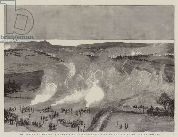 The Easter Volunteer Manoeuvres at Dover, General View of the Battle on Easter Monday (engraving)