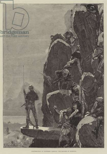 Insurrection in Northern Albania, the Manner of Fighting (engraving)