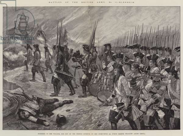 Battles of the British Army, Blenheim (engraving)