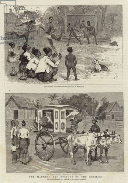 The Manners and Customs of the Burmans (engraving)