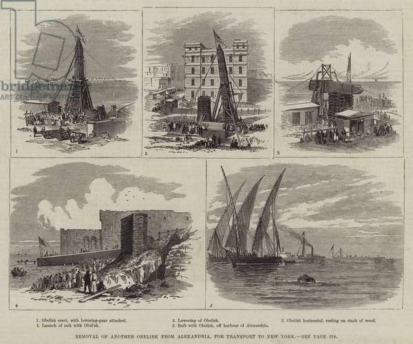Removal of another Obelisk from Alexandria, for Transport to New York (engraving)