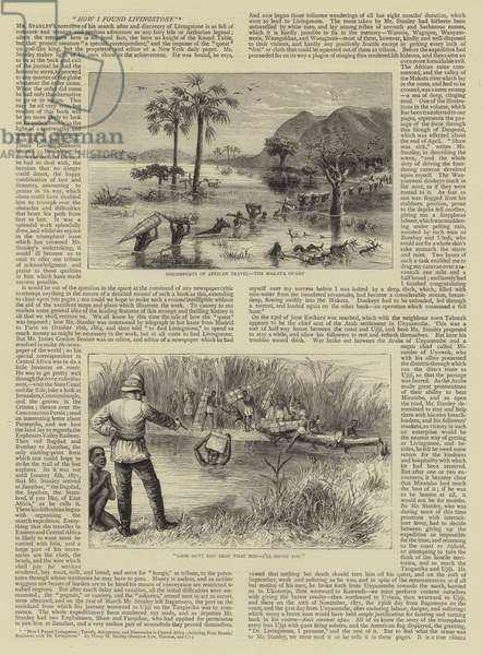 How I Found Livingstone, Travels, Adventures, and Discoveries in Central Africa, including Four Months' Residence with Dr Livingstone (engraving)