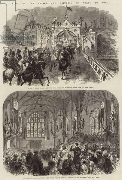 Visit of the Price and Princess of Wales to York (engraving)