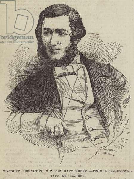 Viscount Ebrington, MP for Marylebone (engraving)