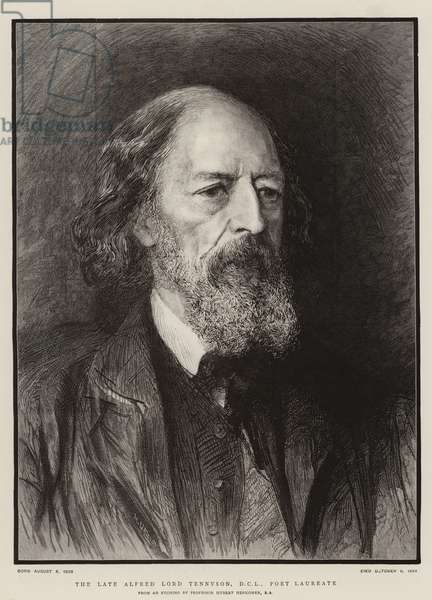 The Late Alfred Lord Tennyson, DCL, Poet Laureate (engraving)