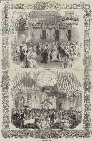 Grand State Ball at Buckingham Palace on Monday Last (engraving)
