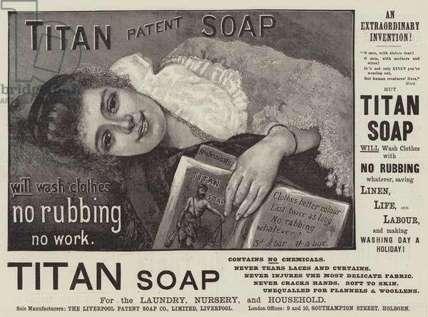 Advertisement, Titan Soap (engraving)