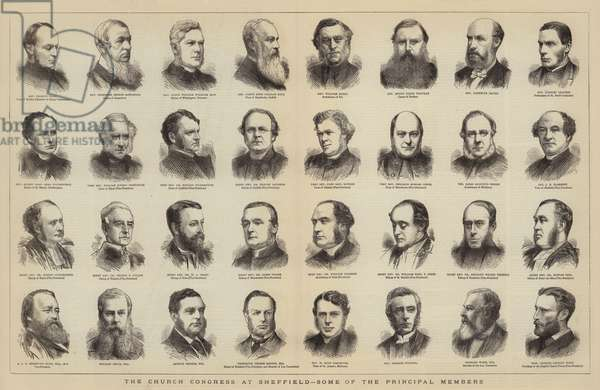 The Church Congress at Sheffield, Some of the Principal Members (engraving)
