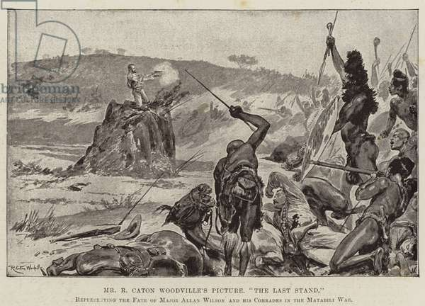 """""""The Last Stand,"""" representing the Fate of Major Allan Wilson and his Comrades in the Matabili War (litho)"""