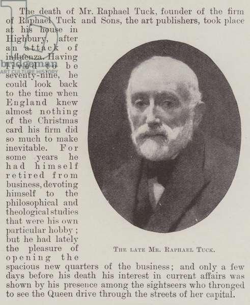 The late Mr Raphael Tuck (b/w photo)