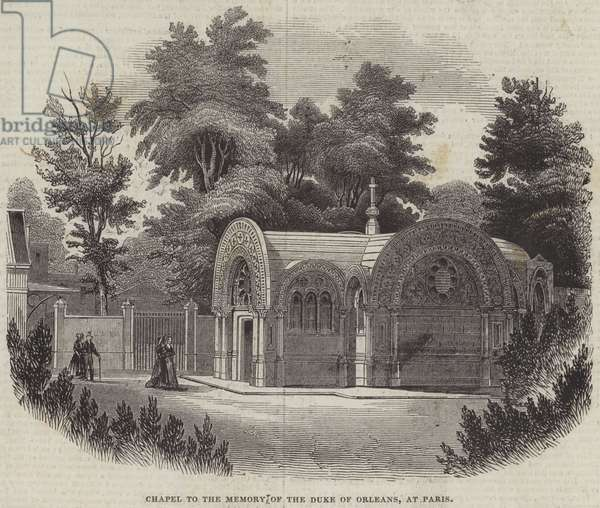 Chapel to the Memory of the Duke of Orleans, at Paris (engraving)