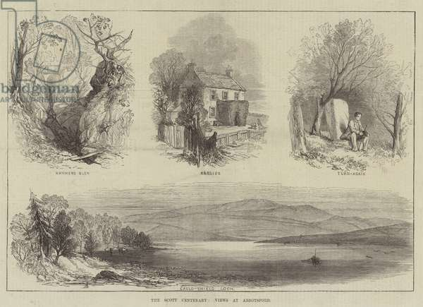 The Scott Centenary, Views at Abbotsford (engraving)