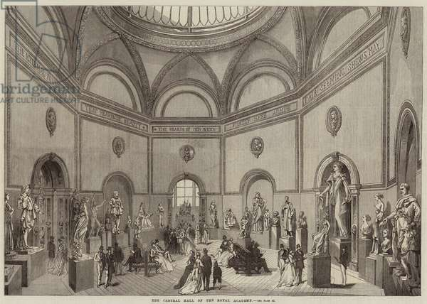 The Central Hall of the Royal Academy (engraving)