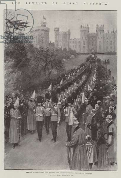 The Funeral of Queen Victoria (litho)