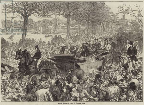 Queen Victoria's Visit to Victoria Park (engraving)
