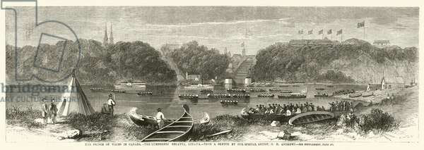 The Prince of Wales in Canada, the Lumberers Regatta, Ottawa (engraving)