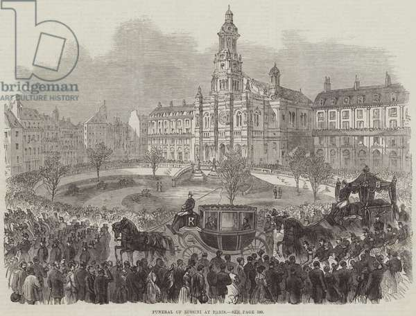 Funeral of Rossini at Paris (engraving)