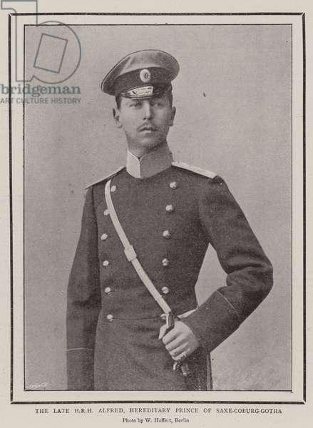 The Late HRH Alfred, Hereditary Prince of Saxe-Coburg-Gotha (b/w photo)