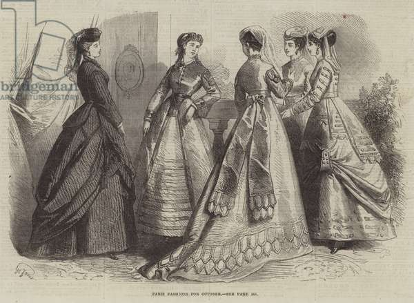 Paris Fashions for October (engraving)