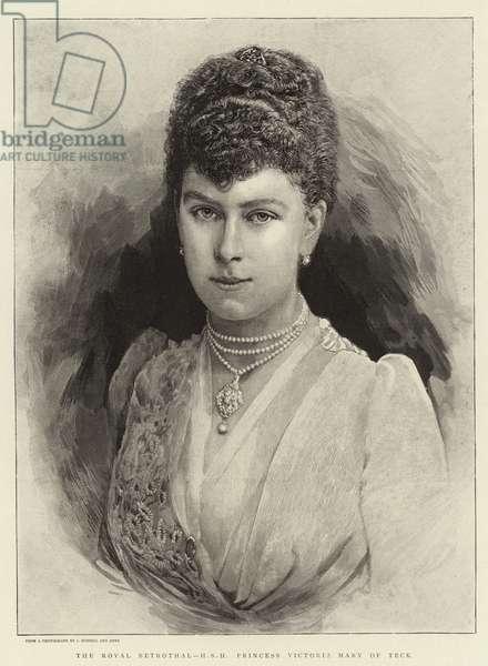 The Royal Betrothal, H S H Princess Victoria Mary of Teck (engraving)