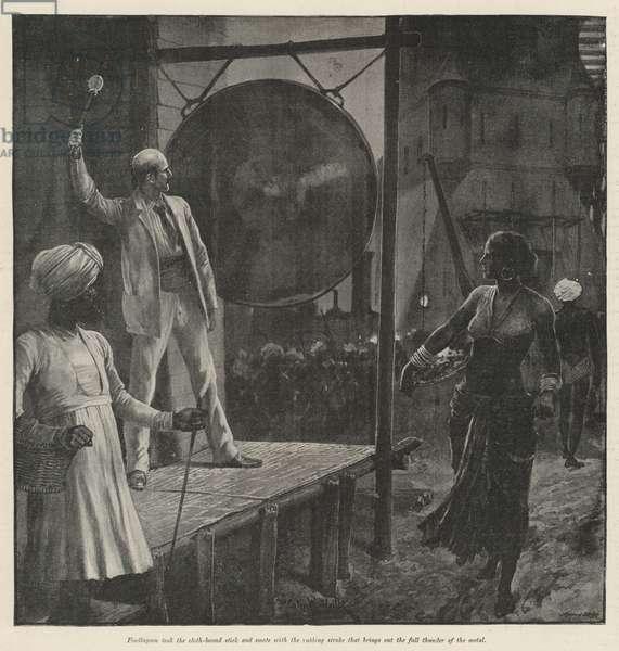 The Bridge Builders, by Rudyard Kipling (litho)