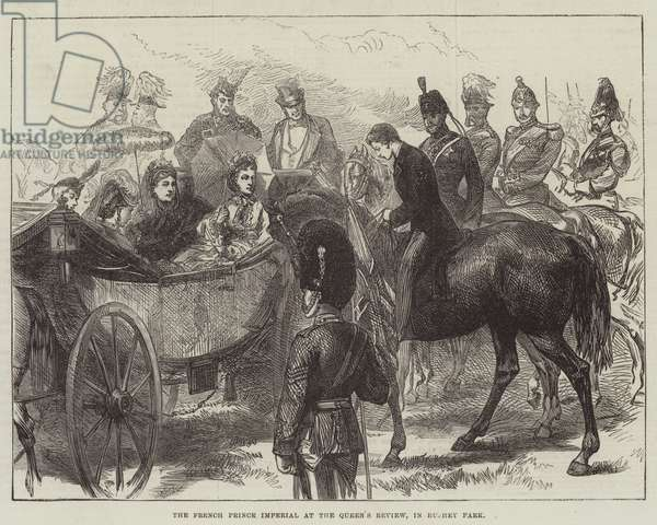 The French Prince Imperial at the Queen's Review, in Bushey Park (engraving)