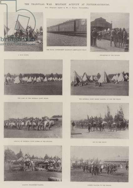 The Transvaal War, Military Activity at Pietermaritzburg (b/w photo)