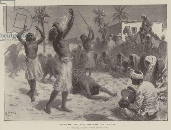 The Soudan Advance, Funeral Dance at Wady Halfa (litho)