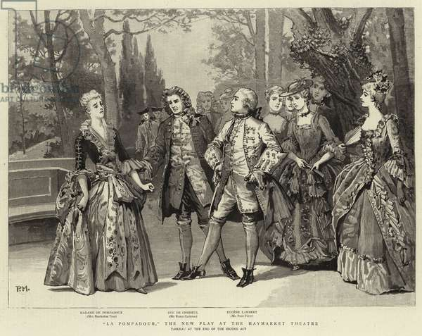 """La Pompadour"", The New Play at the Haymarket Theatre (engraving)"