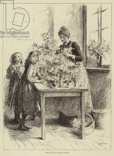 Illustration for The Story of a Nurse, by Honnor Morten (engraving)