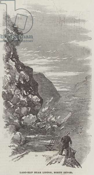 Land-Slip near Linton, North Devon (engraving)