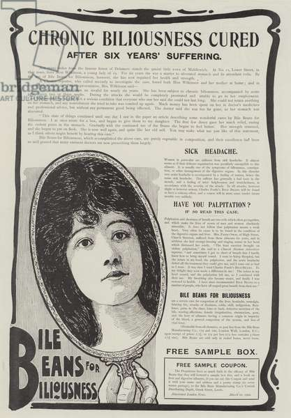 Advertisement, Bile Beans for Biliousness (engraving)