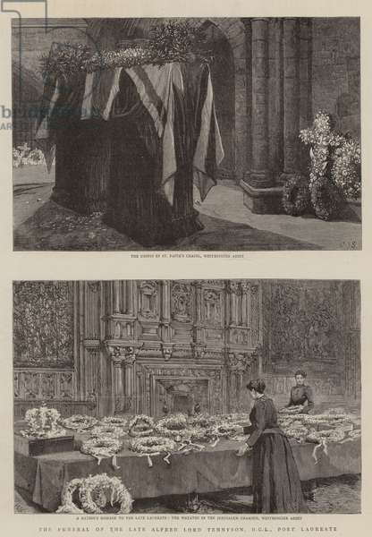 The Funeral of the Late Alfred Lord Tennyson, DCL, Poet Laureate (engraving)