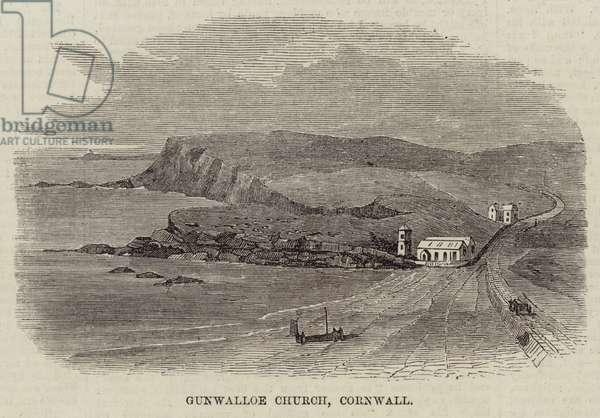Gunwalloe Church, Cornwall (engraving)