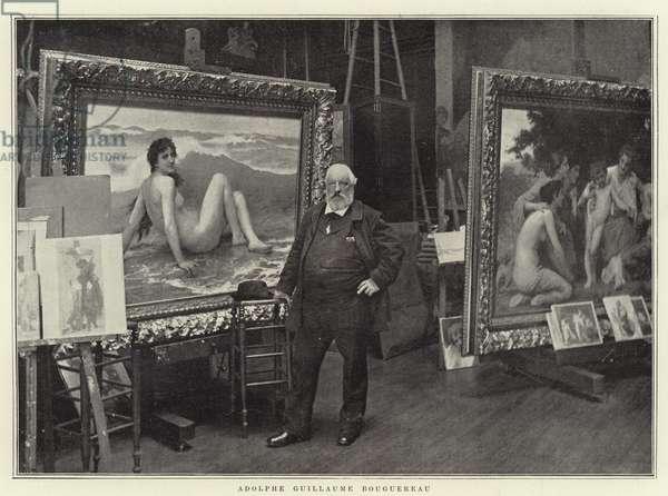 Adolphe Guillaume Bouguereau (b/w photo)